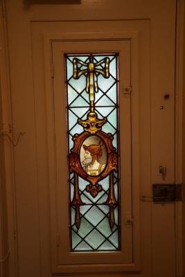 Glasraampje in het Gentiel De Smet-huis