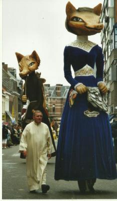 Hermeline en Reinaert in de Canteclaerstoet