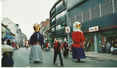 Cantaert en Sproete op wandel door Deinze
