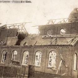 De vernielde Sint-Martinuskerk van Sint-Martens-Leerne