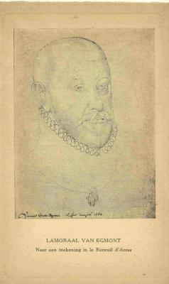 Gedenkprentje Lamoraal van Egmont, prins van Gavere