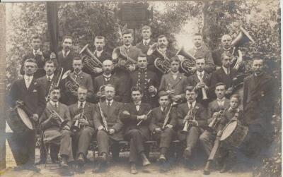 De Nazarethse Harmonie Vrank en Vrij aan het begin van de jaren 1920
