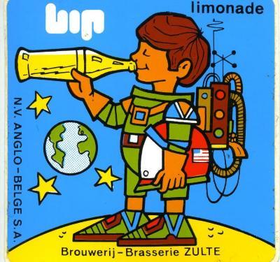 Stickers ter promotie van BIP-limonade