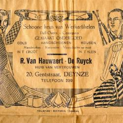Verpakking winkel Van Hauwaert-De Ruyck