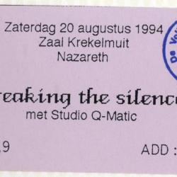 Ticket Breaking the Silence, zaal Krekelmuit Nazareth