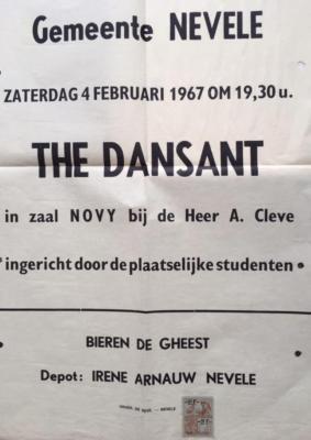 Affiche T-Dansant, Studenten van Nevele