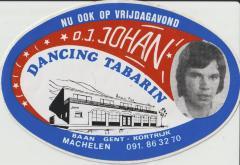 Sticker DJ Johan in Dancing Tabarin