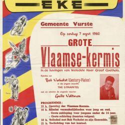Affiche Grote Vlaamse kermis Vurste