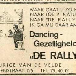 Reclame-advertentie dancing Rallye Nazareth