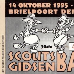 Steunkaart voor het 30ste Scouts- en Gidsenbal Deinze.