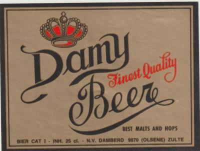Etiket Damy-bier