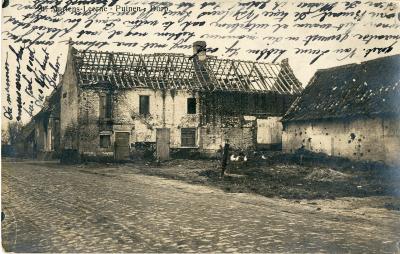 Vernielingen in de dorpskom van Sint-Martens-Leerne
