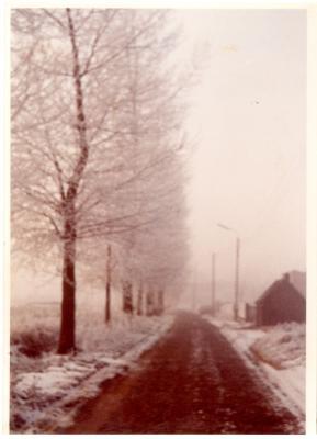 De Olsense Machelenstraat in de sneeuw