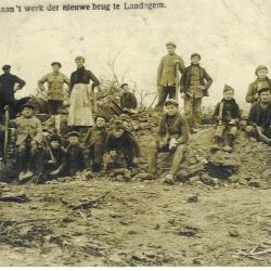Heropbouw Landegembrug na de Eerste Wereldoorlog