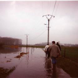 Wandelen in overstromingsgebied