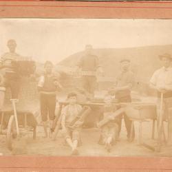 Steenbakkers van Gavere in Escaudain (Noord-Frankrijk) in 1897