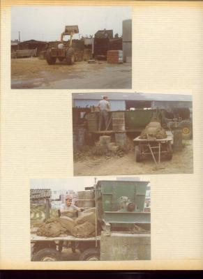 He machinaal aanmaken en aanvoeren van de modder in de steenbakkerij