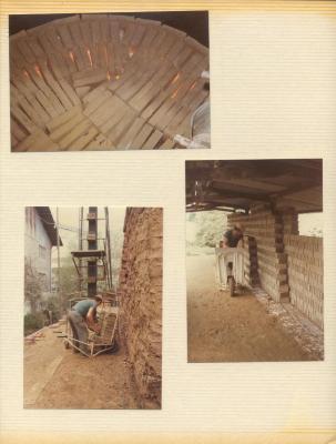Ovenvuur, aanvoer stenen vanuit de loods bij de firma De Fauw