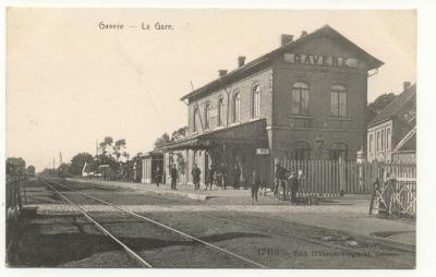 Postkaart station Gavere