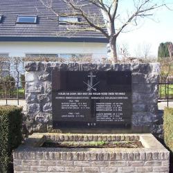 Rouwbord militaire slachtoffers De Pinte uit W.O.I