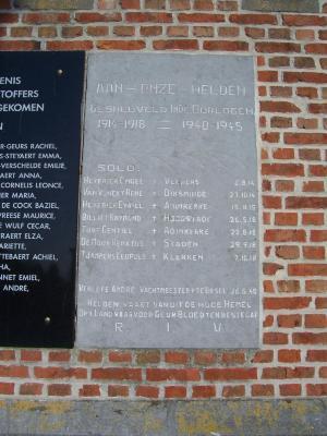Oorlogsgedenkteken Meigem Eerste Wereldoorlog