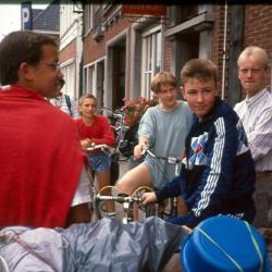 Vertrek op kamp met de fiets