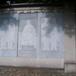 Franse soldaten op het kerkhof van Nazareth