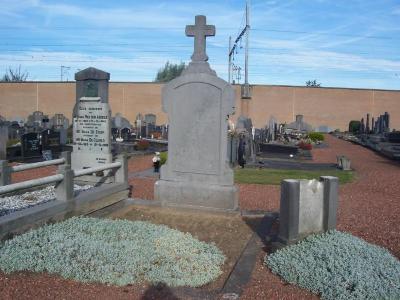 Graf van oorlogsslachtoffer Baziel De Pourcq