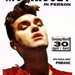Optreden van Morrissey in de Brielpoort