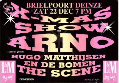 Affiche Brielpoort X-mas Show, Deinze, 1990