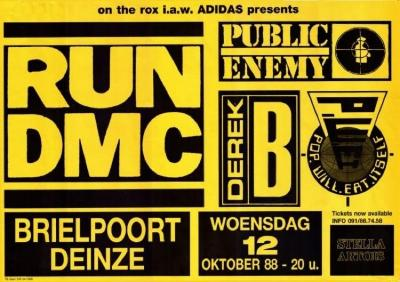 Hiphop in de Brielpoort met o.a. Run DMC