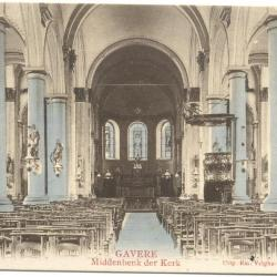 Gavere Middenbenk (sic) der Kerk (ingekleurd)