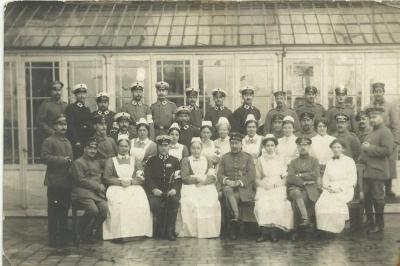 Duits lazaret te Deinze tijdens W.O.I