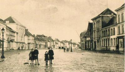De Deinse Markt aan het begin van de 20ste eeuw