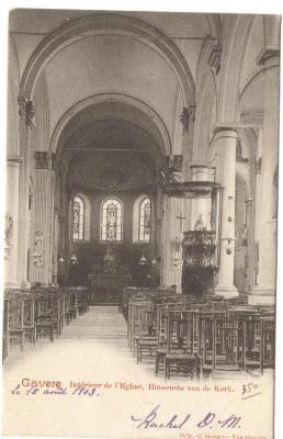 Gavere Intérieur de l'Eglise Binnenste van de Kerk