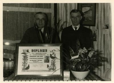 Duivenfeest André Van Heule en Louis Van Speybroeck.