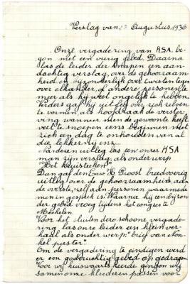 Verslag van KSA-activiteit uit 1936