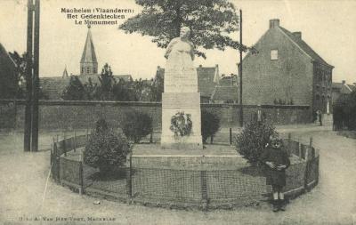 Het gedenkteken van WO I in Machelen