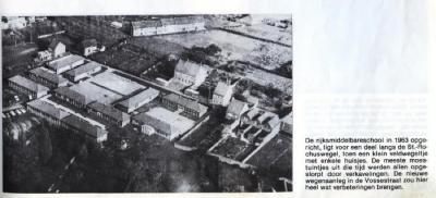 De gebouwen van de Rijksmiddelbare School