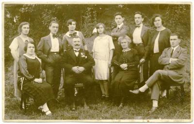 Foto van het gezin van sasmeester Vanderlinden