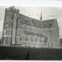 Vernielde Deinse stationsbuurt na bevrijding in 1918