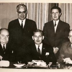 Het jeugdbestuur van voetbalclub RC Gavere anno 1968