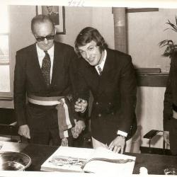 Huldiging van Erwin Vandendaele, de winnaar van de Gouden Schoen 1971