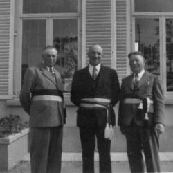 Het schepencollege van Deurle anno 1956