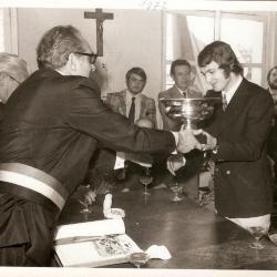Huldiging van Erwin Vandendaele, winnaar van de Gouden Schoen 1971