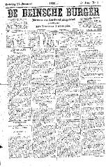 De Deinsche Burger: zondag 23 januari 1881