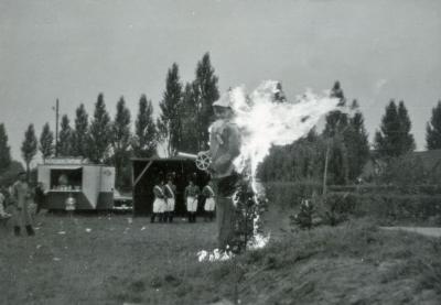 Reuzenverbranding tijdens oogstfeest