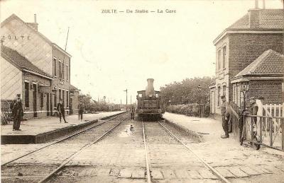 Station Zulte in 1898