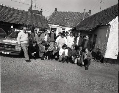 De krieleniers na een wedstrijd in Machelen-aan-de-Leie