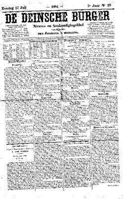 De Deinsche Burger: Zondag 17 juli 1881